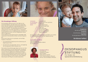 Flyer Stiftung 2016 - Oesophagus