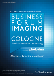 Programm 2016 () - Business Forum Imaging Cologne