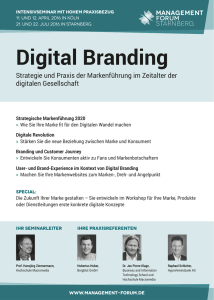 Digital Branding - Management Forum Starnberg GmbH
