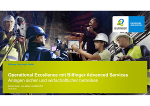 Operational Excellence mit Bilfinger Advanced Services Anlagen