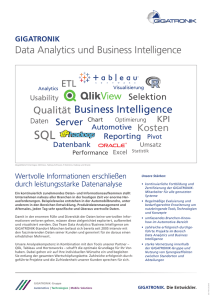 Flyer Data Analytics und Business Intelligence
