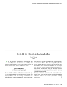 Die Add-On-IOL als Airbag und Joker