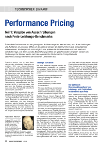 Performance Pricing Teil 1