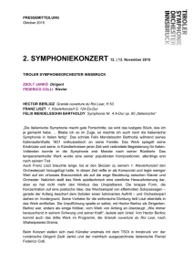 2. SYMPHONIEKONZERT am 12. & 13. November