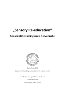 Sensory Re-education - Kantonsspital St.Gallen