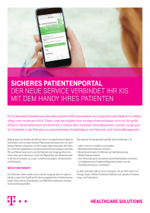 SichereS PatientenPortal - Telekom Healthcare Solutions