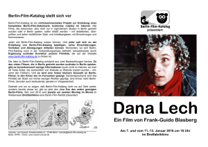 Berlin-Film-Katalog Flyer Dana Lech