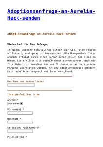 Adoptionsanfrage-an-Aurelia- Hack-senden - pro