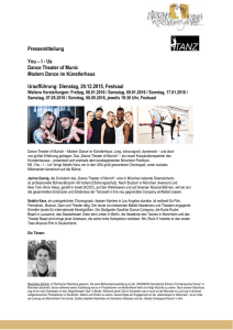 Pressemitteilung You – I - Us Dance Theater of Munic Modern