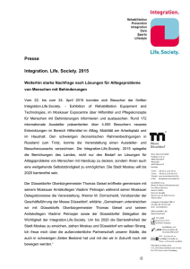 Presse Integration. Life. Society. 2015