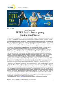 PETER PAN - forever young