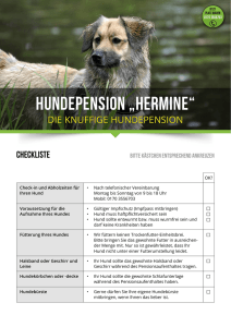 Anmeldeformular - Hundepension Hermine