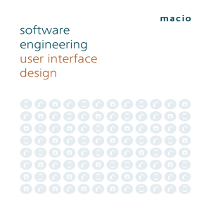 software engineering user interface design