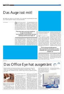 D as Auge isst mit! D as Office Eye hat ausgetränt