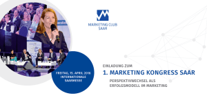 1. marketing kongress saar