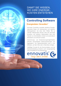 Flyer ennovatis Controlling