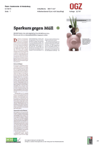 Sparkurs gegen Müll - United Against Waste