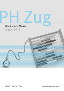 Workshops Musik August 2015