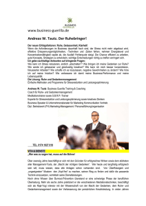 Andreas W. Tautz Coaching Business Guerilla