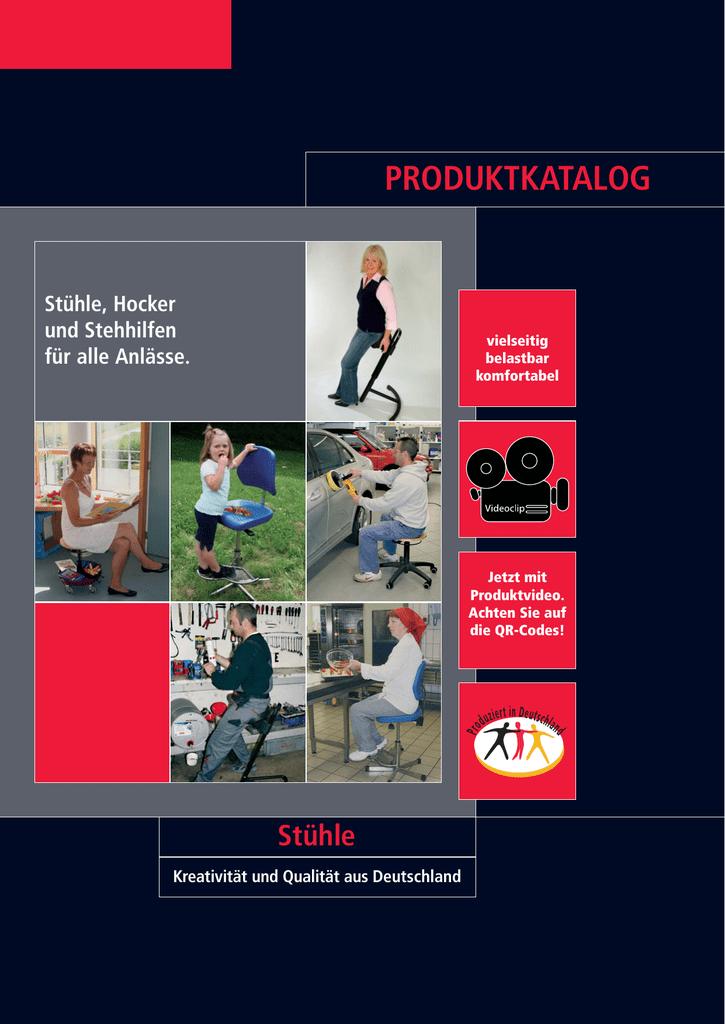 Arbeitsstuhl Modell 8535 mit Bodengleitern und Fußring von Lotz Sitz Buche