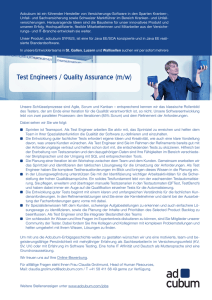 Test Engineers / Quality Assurance (m/w)