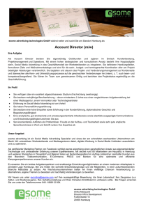 Account Director (m/w) - esome