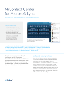 MiContact Center for Microsoft Lync