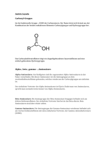 Carboxyl-Gruppe: Alpha-, beta-, gamma
