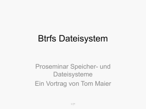 Btrfs Dateisystem
