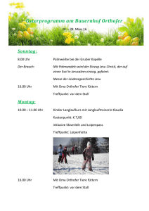 Osterprogramm am Bauernhof Orthofer