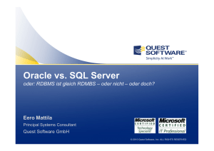 Oracle und SQL Server
