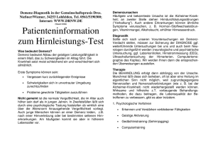 Patienteninformation zum Hirnleistungs-Test