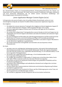 Junior Application Manager Content Engine (m/w)