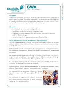 Infoblatt GWA - Soziale Initiative