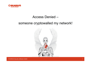 Access Denied – someone cryptowalled my network!