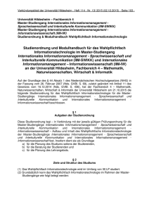Informationstechnologie - Universität Hildesheim