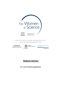 Stefanie Schöne - For women in science