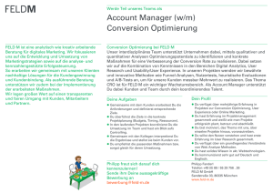 Account Manager Conversion Optimierung