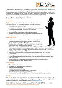 Consultant Data Scientist (m/w)