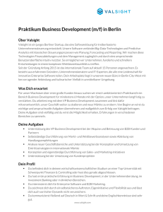 2016-04-08-Praktikum Business Development-Valsight GmbH-DE-FU