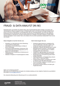 FRAUD- & DATA ANALYST (M/W)