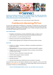 Praktikant/in Marketing/PR/Text