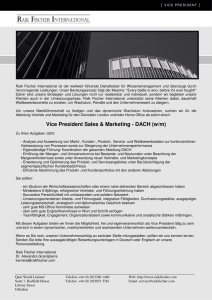 Vice President Sales & Marketing - DACH
