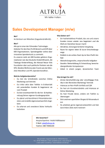 Sales Development Manager (m/w)