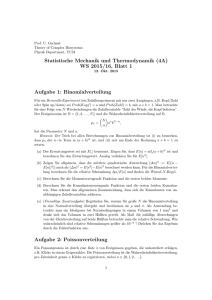 Blatt 1 - Physics of Complex Biosystems