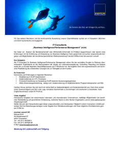 "IT-Consultants ""Business Intelligence/Performance Management"" (m"