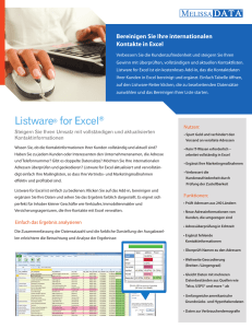 Listware for Excel