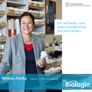 Biologin - Universität Zürich