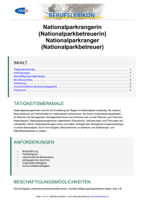 NationalparkrangerIn (NationalparkbetreuerIn)