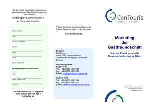 Flyer_Marketing der Gastfreundschaft